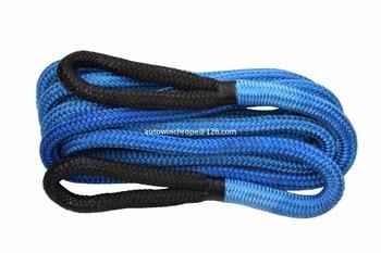 Niebieski 7 8 cala * 30 stóp (22mm * 9 m) kinetyczna lina odzysku podwójnie pleciona nylonowa lina energetyczna lina do holowania lina Bubba tanie i dobre opinie FACE FORWARD SUN 7 8inch nylon polymide Holowania liny 3 3kg