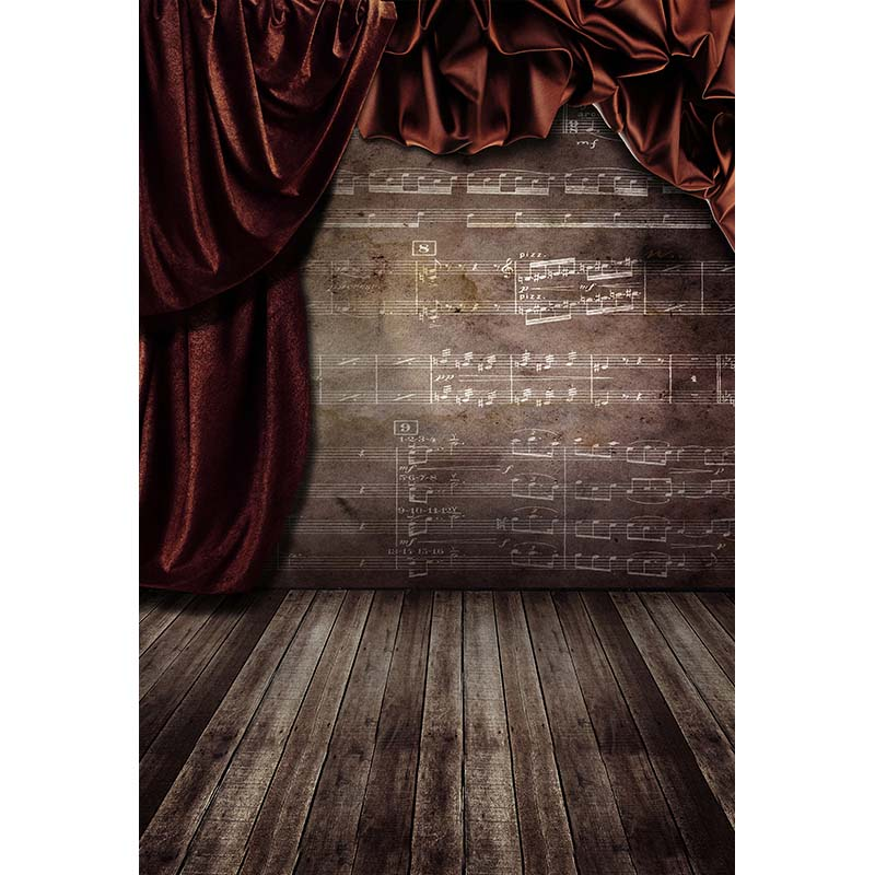 Vintage curtain in room photo background vinyl printed digital photography backdrops for photo studio  backgrounds CM-4854 300cm 300cm vinyl custom photography backdrops prop digital photo studio background s 4748