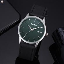 Fashion Casual Men 's Bussines Retro Design Leather Round Band Watch #106