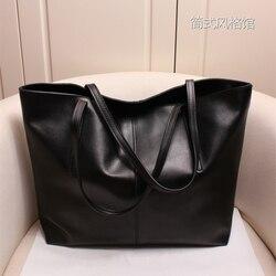 Women Handbag Genuine Leather Shoulder Bag Female Bags Cowhide portable shopping bag Vintage Large Capacity Tote