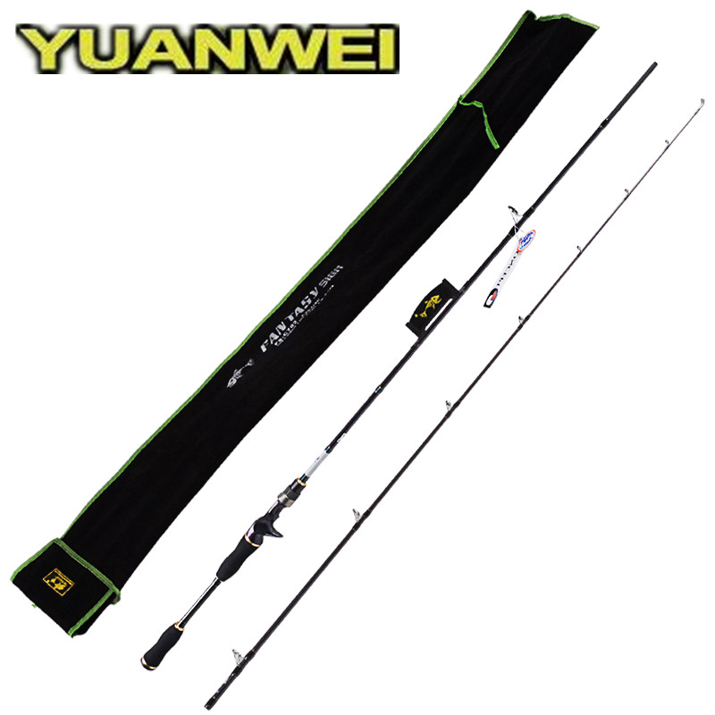 YUANWEI Baitcasting Fishing Rod 2 Secs 1.8m 2.1m ML/M/MH IM8 Carbon Lure Rods Canne A Peche Olta Fishing Tackle Bass Casting Rod mingcheng fishing tackle sea fishing lure rod s2 1 2 4meters m mh h xh casting rods carbon lure fishing rod boat fishing rods