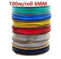 100m/roll 6MM Heat shrinkable tube heat shrink tubing Insulation casing 100m a reel