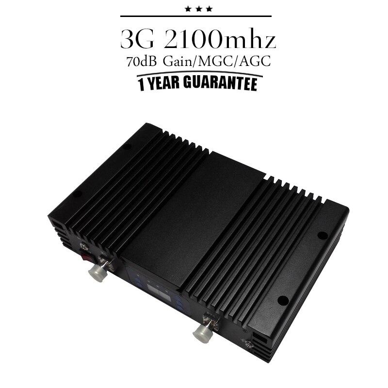 Couverture grande surface 70dB Gain 3G WCDMA 2100 Booster de téléphone portable répéteur de Signal cellulaire affichage LCD 3G UMTS 2100 mhz amplificateur #50 - 2