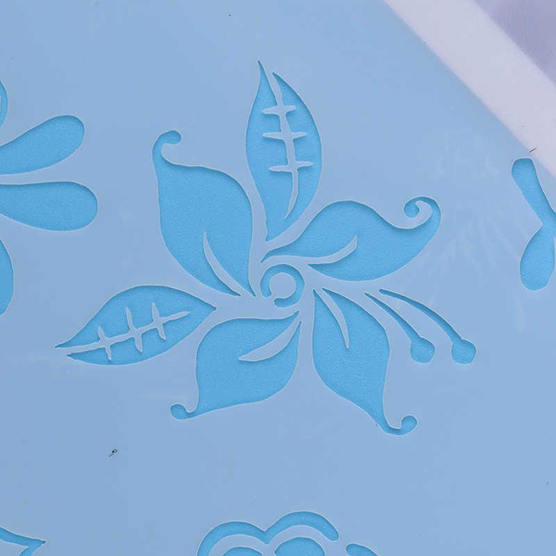 Dapat Digunakan Kembali Stensil Diy Scrapbooking Stensil Airbrush Lukisan Seni Scrap Terakhir Album Kerajinan Plastik Relief Berbentuk Bunga