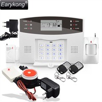 Wireless Siren Alarm English Russian Spanish French Voice Wireless GSM Alarm System Home Security Alarm Systems