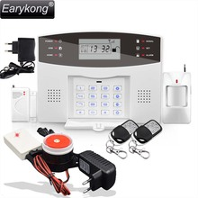 Wireless Siren Alarm!!! English Russian Spanish French Voice Wireless GSM Alarm System Home Security Alarm Systems Free Shipping