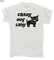 GILDAN CRAZY DOG LADY T SHIRT Puppy Leadfunny Birthday Gift 123t Present For Him New Men