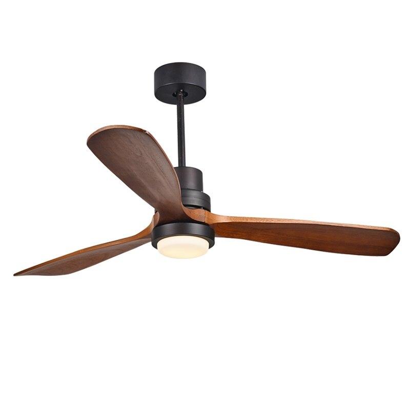Современные Дистанционное управление 52 дюймов деревянный лезвия Ретро потолочный вентилятор с ac220v Вход 15 Вт Открытый Потолочные светильни...