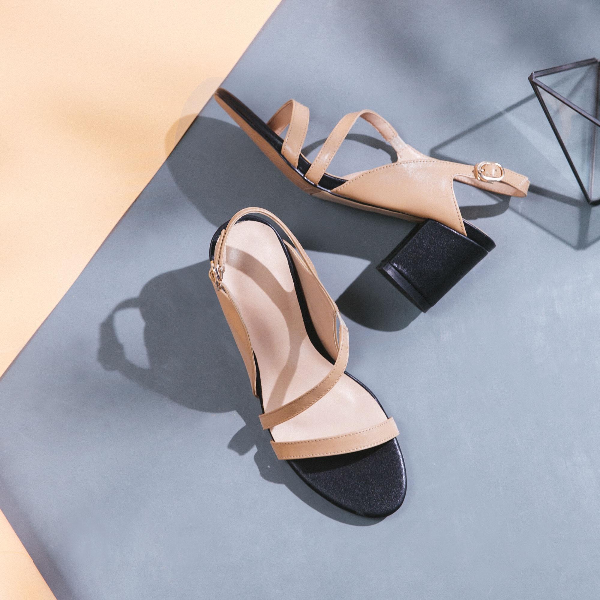 Nuevas Salu Zapatos 2018 Opea Beige De Altos Sexy Mujeres Sandalias Cuero Toe Tacones Verano negro Genuino aBwABq