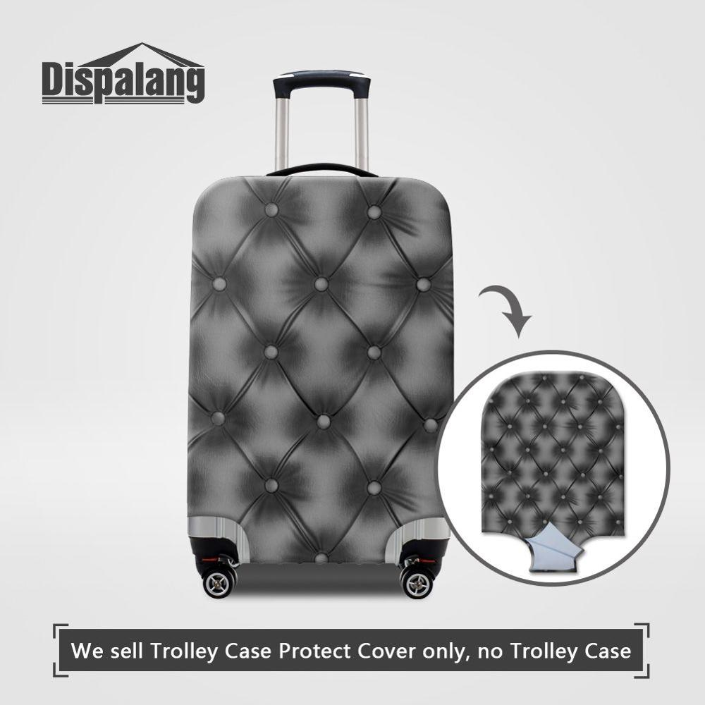 3D Geomatric Pug Print Luggage Protector Travel Luggage Cover Trolley Case Protective Cover Fits 18-32 Inch