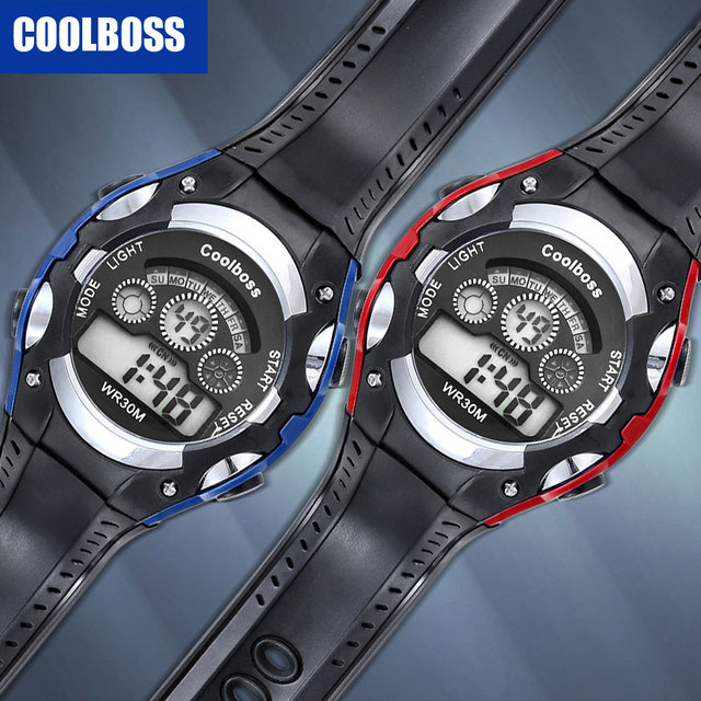 COOLBOSS Brand New Sport Student Children Watch Kids Watches For Boys Girls Clock Electronic LED Digital Wristwatch Child Gift