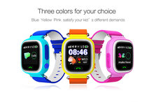 Q90 child baby watch support GPS SOS SIM card call children phone watch support Android & IOS smart phone alarm reminder PK DZ09(China)