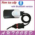 DHL Livre -- New V2014.R2 CDP TCS Bluetooth CDP PRO com Cabo de LED para OBD2 OBDII Carros/Caminhões Multimarcas Sistema de Diagnóstico de veículos