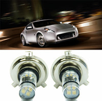 2 Pcs 100W H4 LED Bulb 20 SMD Car Fog Light 12V 24V 360 Degrees White