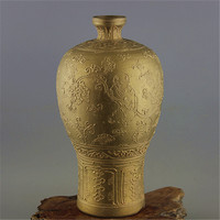 #06Rare Chinese MingDynasty porcelain vase,gold glaze,Home Decoration/ crafts,Collection&Adornment,Free shipping