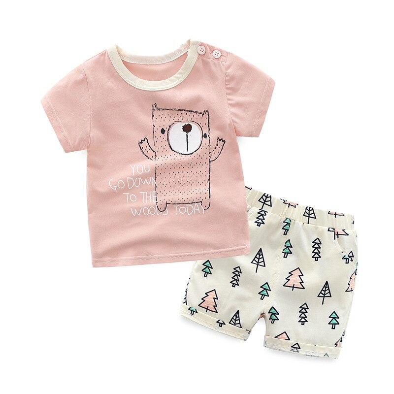 HANQIYAHULI baby jongens zomer kleding set korte mouwen t-shirt + - Kinderkleding - Foto 3