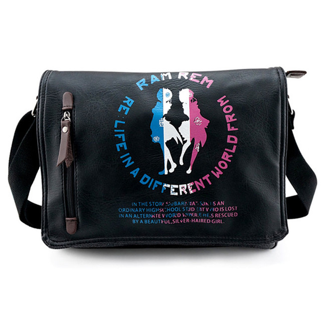 f52e5c4811 Re Life in a different world from zero Canvas Shoulder Messenger Crossbody  Bag Ram Rem Students Schoolbag Free Shipping