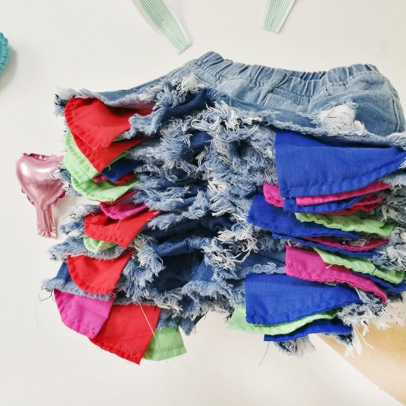 2018 Spodenki dżinsowe dziewczęce wersja letniej odzieży - Ubrania dziecięce - Zdjęcie 1