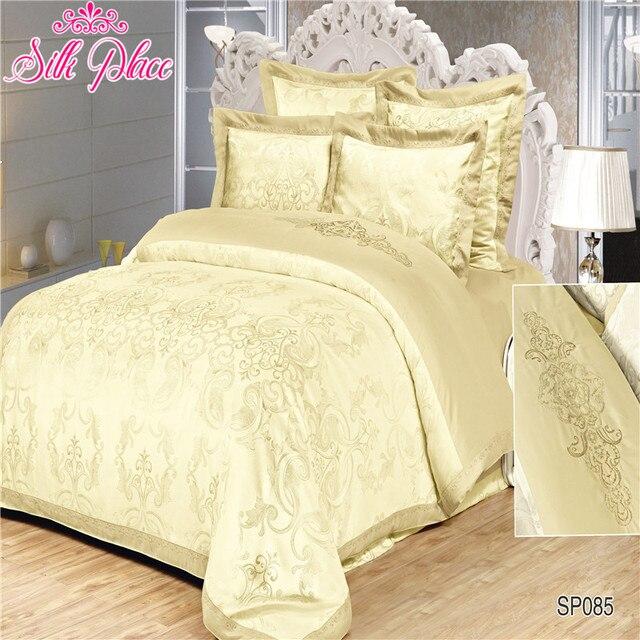 """Silk Place"" Fashion Quality Jacquard Bedding Set Queen Size 5pcs Duvet Cover Bedsheet Pillowcases"