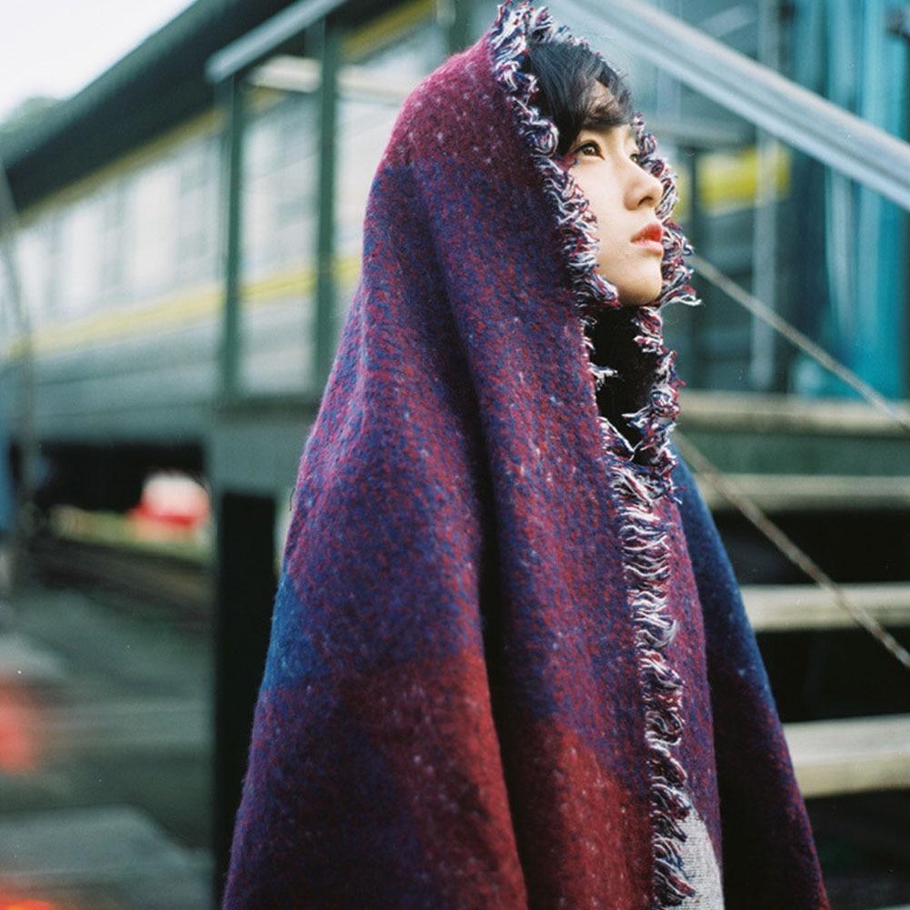 ②3 couleurs Automne et L hiver Éclair A Frappé Couleur Oblique Rayé ... c372bf9625f