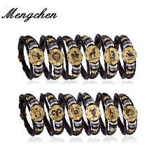 Женский винтажный браслет с 12 созвездиями