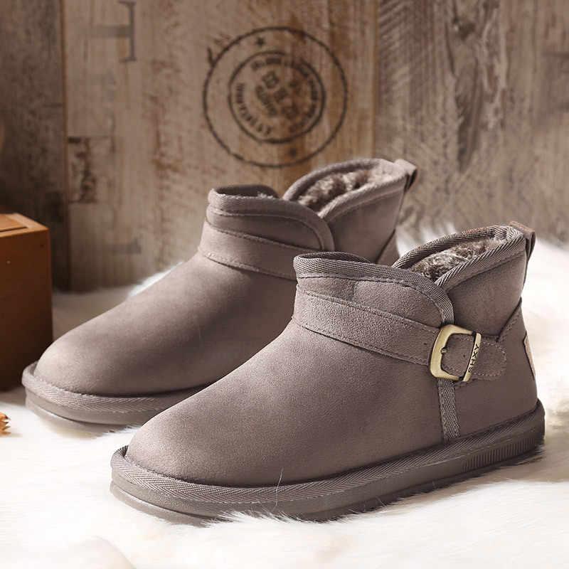 Pamuklu ayakkabılar kadın kış sıcak artı kadife kısa tüp öğrenci ayakkabı H-331