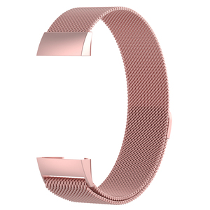 Image 4 - Wristband Metal Stainless Steel Milanese Magnetic Loop Band Strap For FitBit Charge 3 Smart Watch S M Size Optional