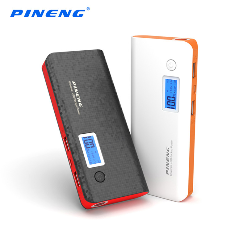 PINENG PN 968 10000mAh Mobile Power Bank Dual USB Charging External Battery Charger Portable Battery with