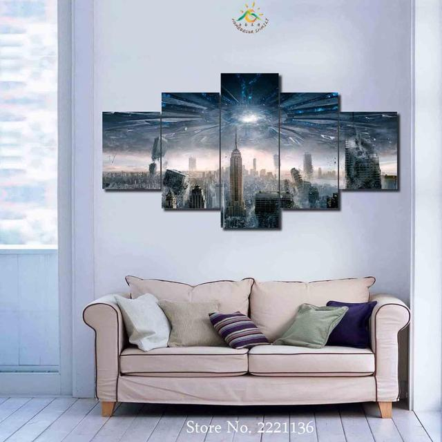 3 4 5 Panel New York City Explosion Wall art for Home Decoration ...