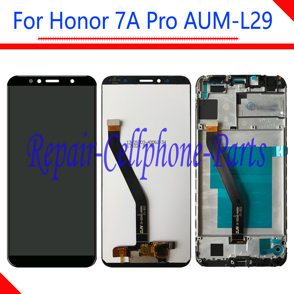 5.7 pollice DIsplay LCD Full + Touch Screen Digitizer Assembly Con Cornice Per Huawei Honor 7A Pro AUM-L29 AUM-L41
