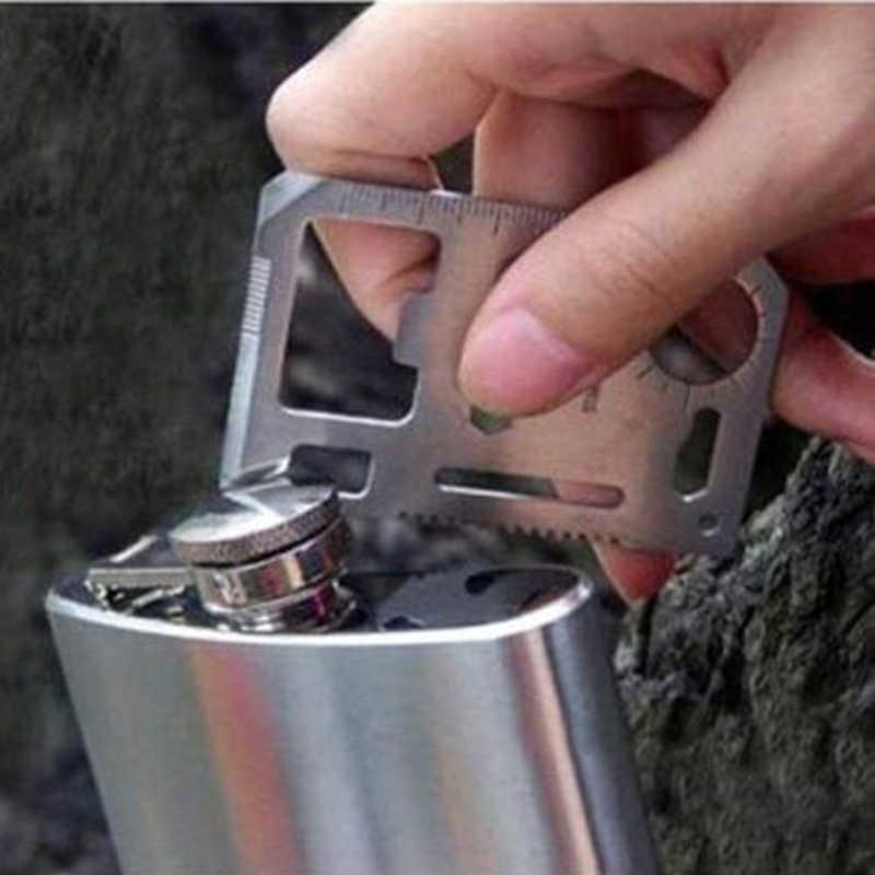 כלים רב 11 ב 1 משולב חיצוני ציד הישרדות קמפינג צבאי כיס כרטיס אשראי סכין כסף