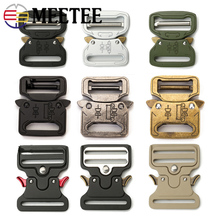 Meetee Thicking Metal Release Buckle for Waist Belt Safety Canvas Bands Strong Hooks Clips DIY Outdoor Luggage Supplies