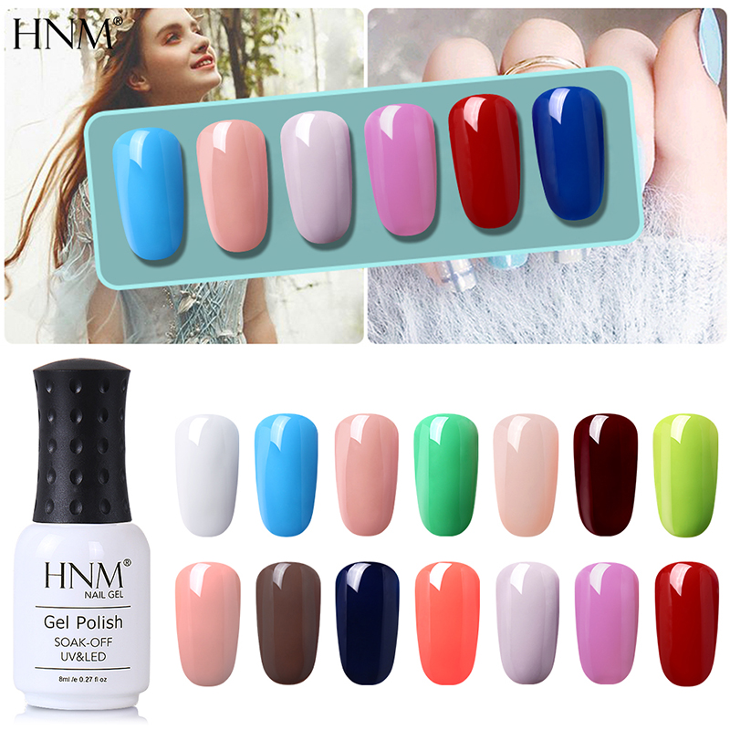 HNM 8ML One Step Gel Nail Polish No Need Top Base Coat Need UV LED Lamp Gel Vernis Semi Permanent Remove by Alcohol
