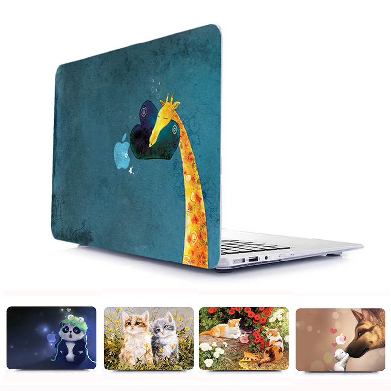Animal Print Plastic Hard Laptop Case for MacBook Air Pro Retina 11 12 13 15 Inch Cover for Macbook A1707 A1706 A1708 Case