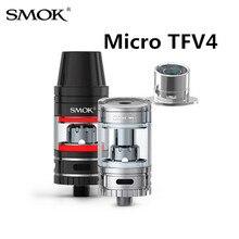 บุหรี่อิเล็กทรอนิกส์SMOK Micro TFV4ฉีดน้ำVape 510กระทู้เครื่องใช้ไฟฟ้าSigara VaporizerสำหรับสมัยSMOK R80การ์เดียน3X9035