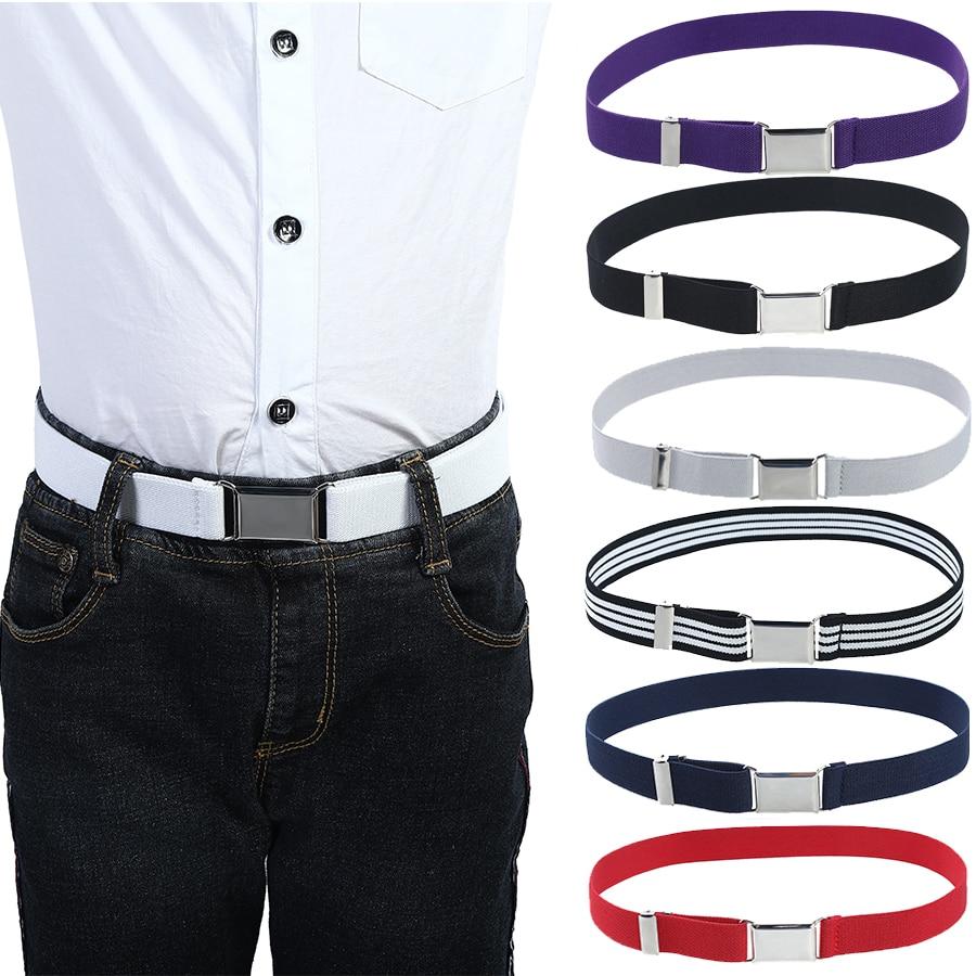Elastic Canvas Belts For Boys Girls Striped Stretch Western Strap Belt Kids Adjustable Cinto Menino Children Kemer
