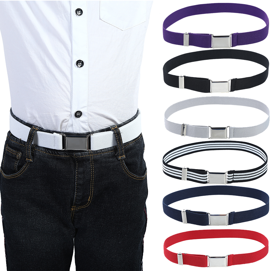 Elastic Canvas   Belts   for Boys Girls Striped Stretch Western Strap   Belt   Kids Adjustable Cinto Menino Children Kemer
