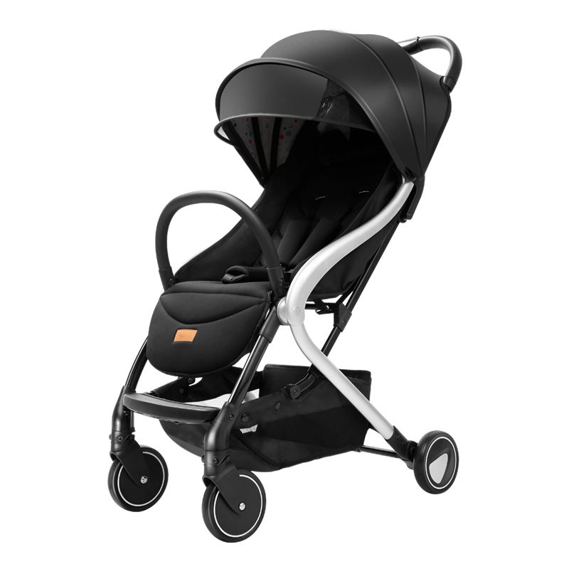 Pouch Baby Carriage Foldable Reclining Trolley For Children