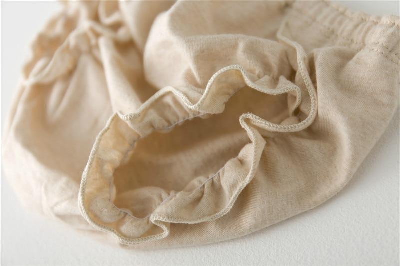 Qız moda bərk rəngli krujeva Pambıqlı alt paltarı Körpə Bezi - Uşaq geyimləri - Fotoqrafiya 4