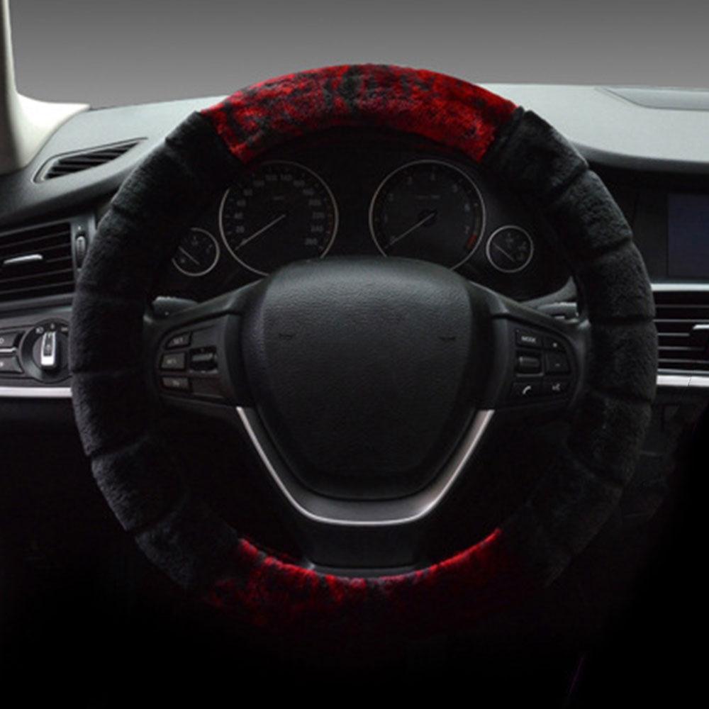 Winter Plush Car Steering Wheel Cover Protector For VW Tiguan Jetta Lavida rav4 New