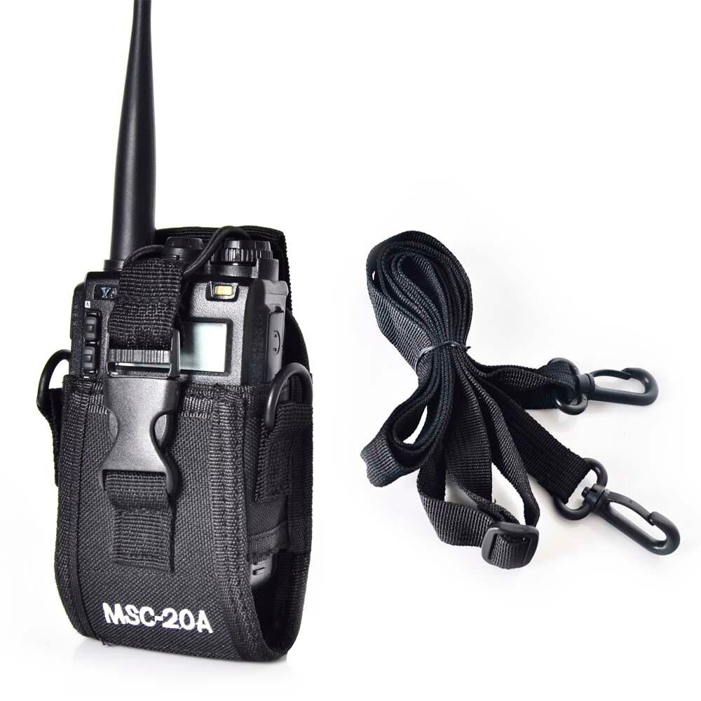 MSC-20A Nylon Talkie Walkie Titulaire Carry Case Pour Deux Façon Radio UV-5R Série UV-82 BF-666S 777 S 888 S Baofeng Radio Cas étui