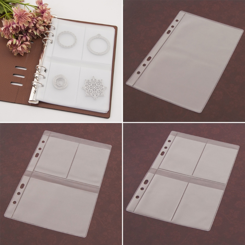 5 Sheets DIY Scrapbooking Cutting Dies Stencil Storage Book Collection Album Cover  Transparent Plastic 4 Styles Inner Page