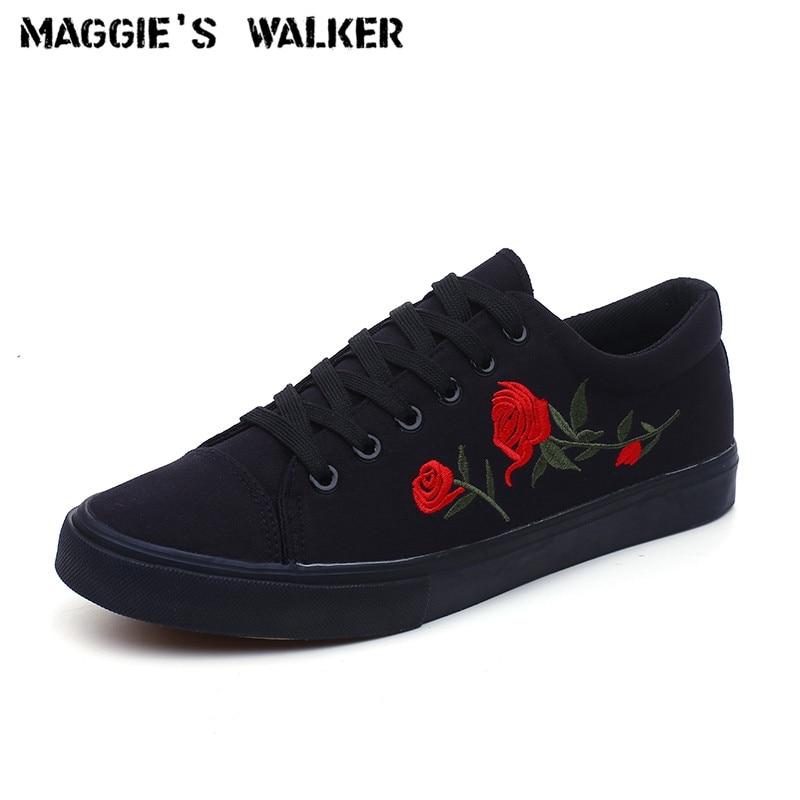 2019 Mode Maggie Walker Männer Trendy Freizeitschuh Leinwand Schnürung Casual Frühling Schuhe Plattform Outdoor Gestickte Schuhe Größe 39-44 Bequem Zu Kochen