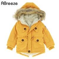 Autumn Winter Children Jackets Girls Boys Coats Hooded Faux Fur Collar Kids Outerwear 10T Cotton Padded