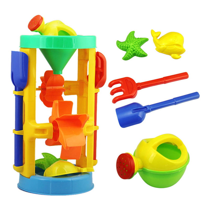 Children Sandy Beach Toy 6pcs/Set Play Sand Dredging Tool Suit Educational Baby Toys For Swimming Toy 5-7 2-4 Years