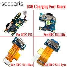 Conector de carga para HTC U11 U12 Plus, puerto de carga, conector de clavija para HTC U11 Life/Eyes, puerto de carga, Cable flexible