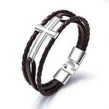 Женские и мужские браслеты из нержавеющей стали черного белого