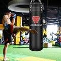 70 см/100 см кикбоксинг Пробивной мешок из искусственной кожи для фитнеса черный песочник для взрослых ММА тайский тхэквондо спортивное обору...