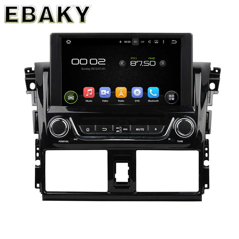 8Inch Quad Core Android 5.1 Car Radio Stereo For Toyota Yaris 2014 Car DVD+GPS Navigation+RDS+Bluetooth+WiFi+Mirror Link