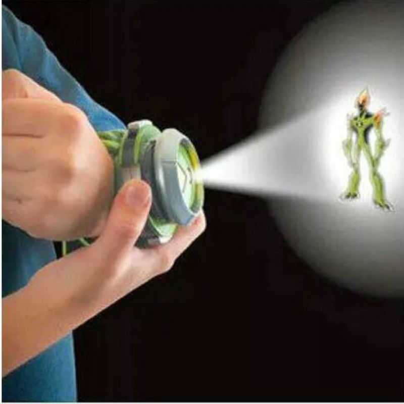 New Ben 10 Kids Watch Toys Projector Omnitrix Alien Viewer With White/Yellow/Green Lights Ben 10 Action Figures Toys Gift lis hot selling ben 10 style japan projector watch ban dai genuine toys for kids children slide show watchband